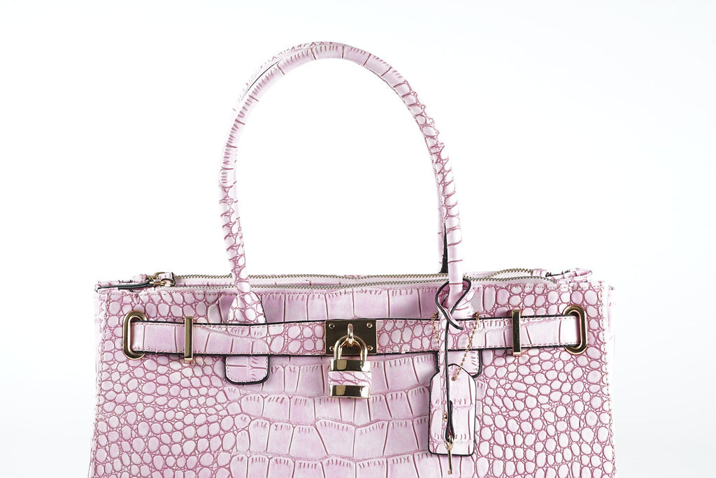 Pink Textured Arm Purse