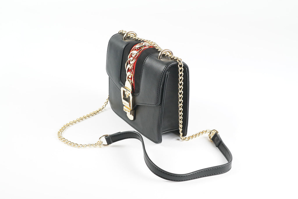 Red and Black Chain Purse