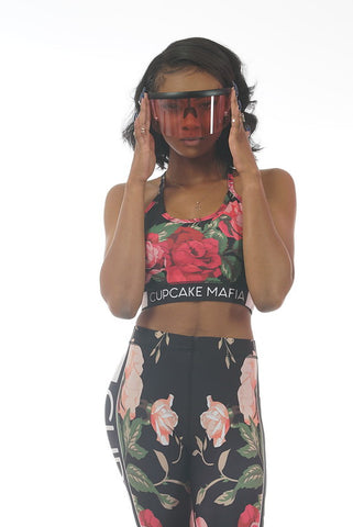 CUPCAKE MAFIA HEART FLORAL CROP TOP