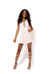 White Flower Mesh Dress
