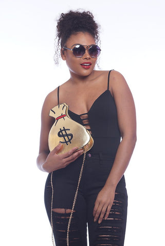 Gold Money Bag Clutch