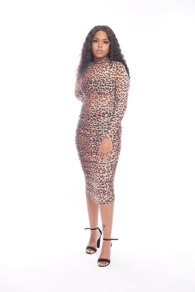 Leopard Scrunch Dress