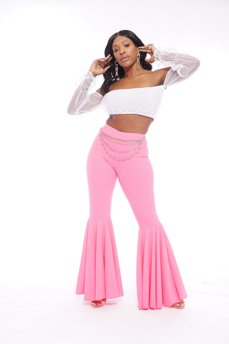 Pink Flare Pants