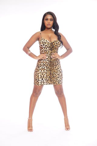 Cheetah Longsleeve Dress
