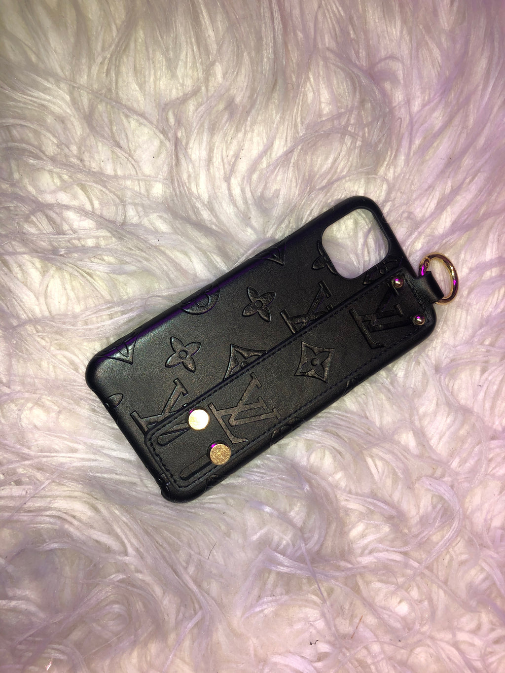 Black LV Gold Grip Phone Case