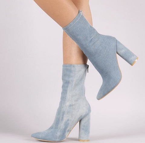 Denim Bootie