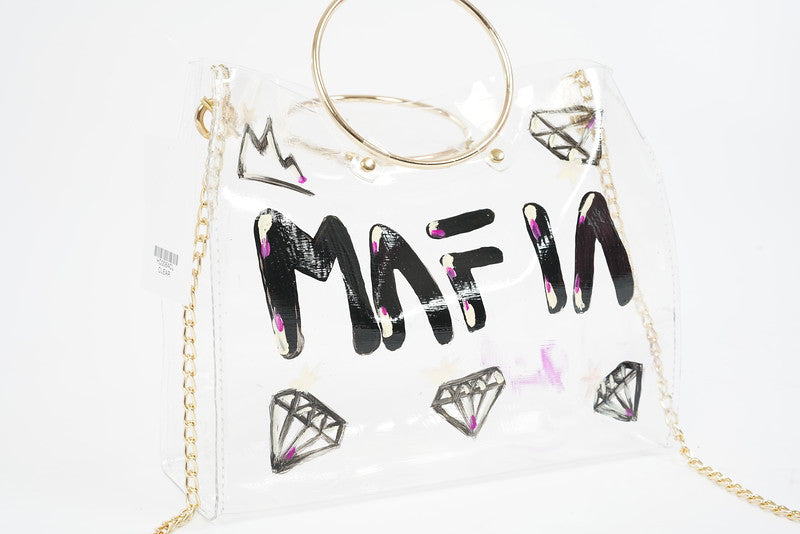 MAFIA CLUB CUSTOM TRANSPARENT TOTE