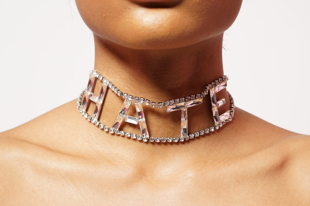 LOVE AND HATE CHOKER