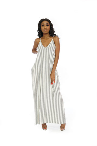Ombre flowy maxi long halter dress