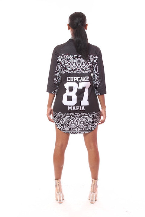 CM GIRL GANG MAFIA BLACK HOCKEY JERSEY DRESS
