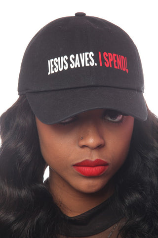 Jesus Saves I Spend Dad Hat