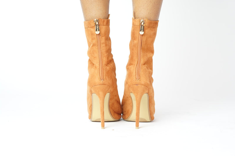 CAMEL LACE UP BOOTIES