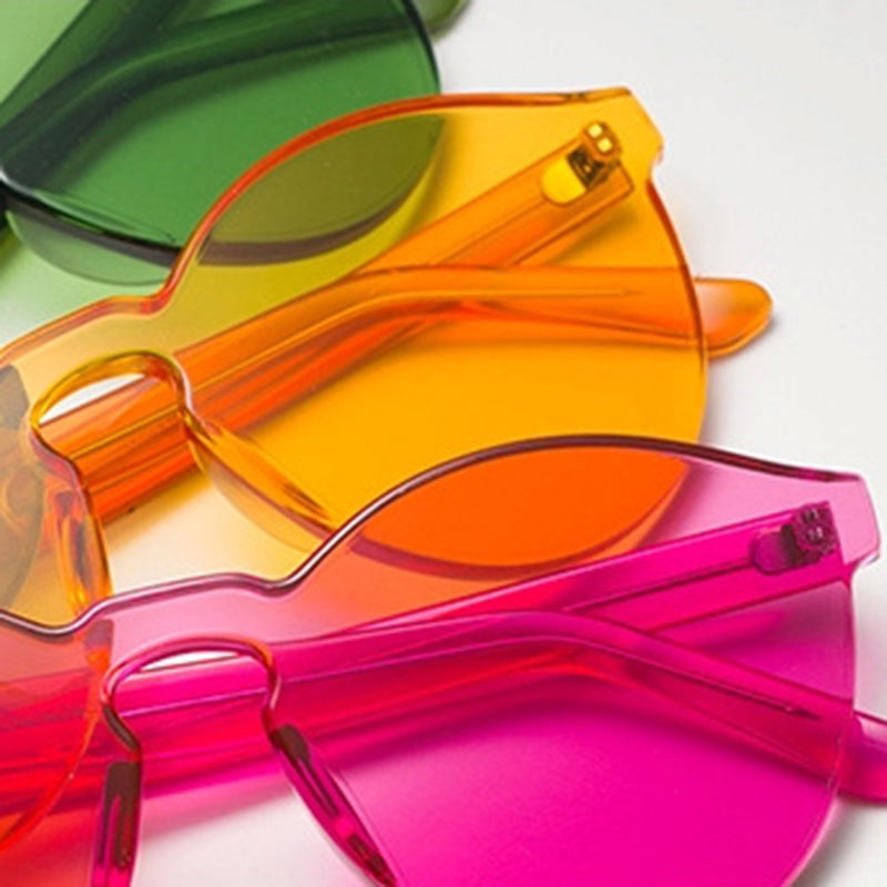 GLOW CLEAR ROUND ACRYLIC GLASSES