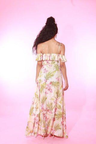 FLORAL MAXI LONG SKIRT 2 PIECE SET