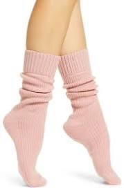 Soft pink Slouch Socks