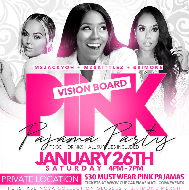 PINK PAJAMAS VISION BOARD PARTY