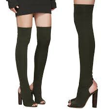 KRISTY OPEN TOE THIGH HIGH BOOTS