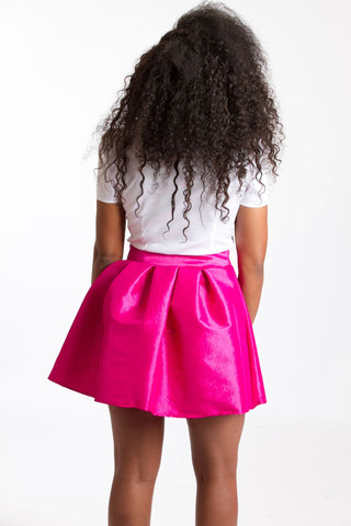 Short Taffeta Skirt
