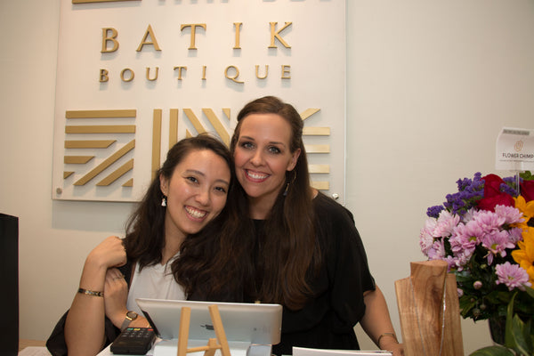 Batik Boutique Founder and CEO Amy Blair with Minerva Fellow Gillian Henry
