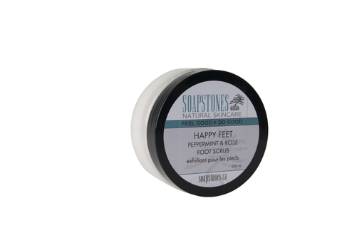 Soapstones Happy Feet Peppermint Rose Scrub - 250 ml.