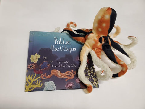 FInger Puppet of Billie the Octopus. Only