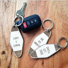 Personalized Wood Hotel Tag Keychain
