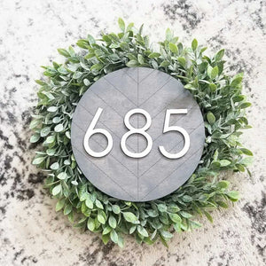Herringbone Address Sign - Circle