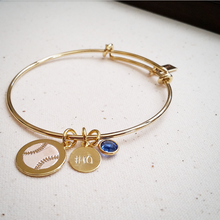 Sports Mom Engraved Bangle Bracelet