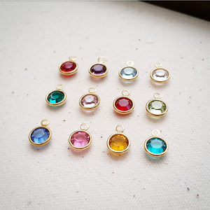 Order Add-On Swarovski Channel Round Crystal Birthstones