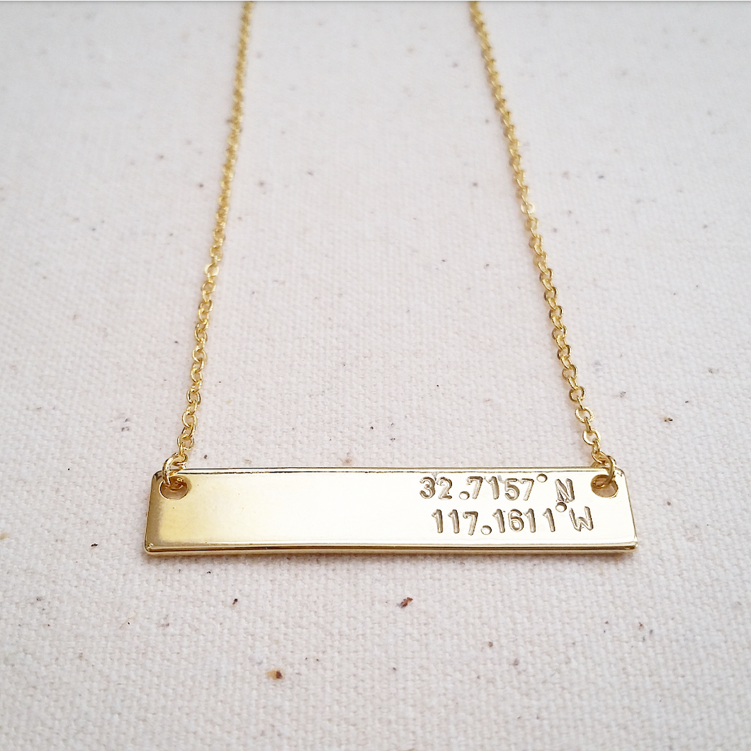 Double Line Bar Necklace