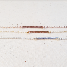 Textured Layering Bar Necklace