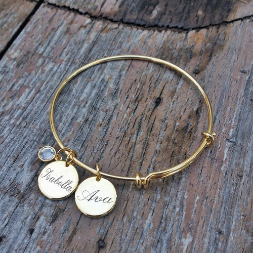 Classic Engraved Names Bangle