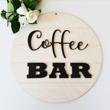Shiplap Round - Coffee Bar