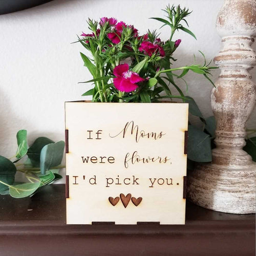 I'd Pick You Personalized Flower Box