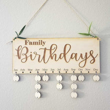 Birthday Dates Board