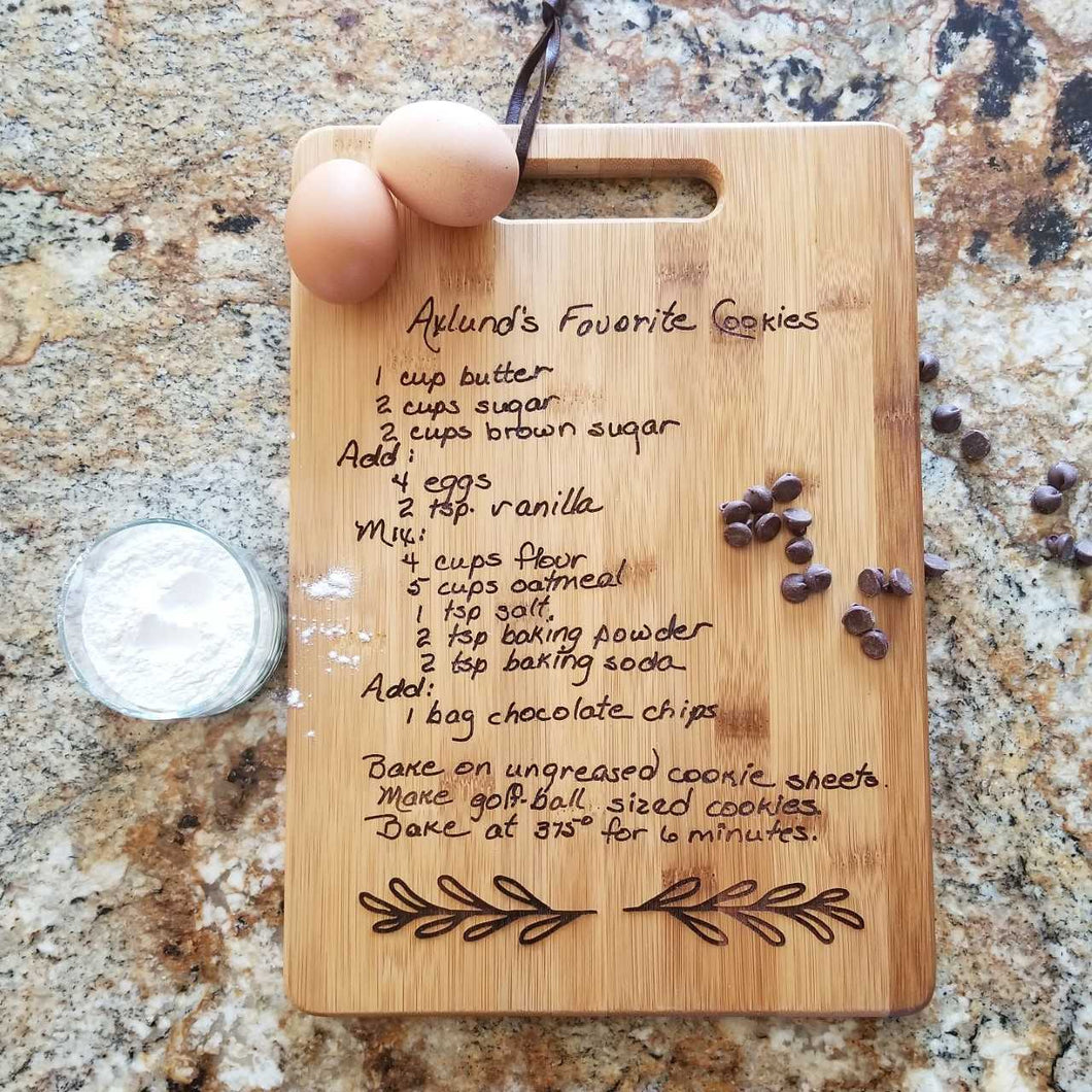 Custom Handwriting Cutting Board