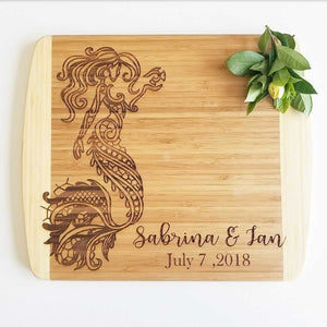 Mermaid Wedding Cutting Board