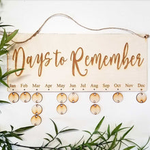 Days to Remember Dates Board