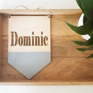 Personalized Wood Pennant Banner