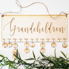 Grandchildren Dates Board