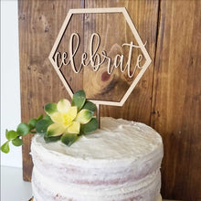 Celebrate Hexagon Cake Topper