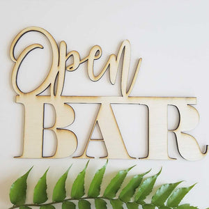 Open Bar Cutout