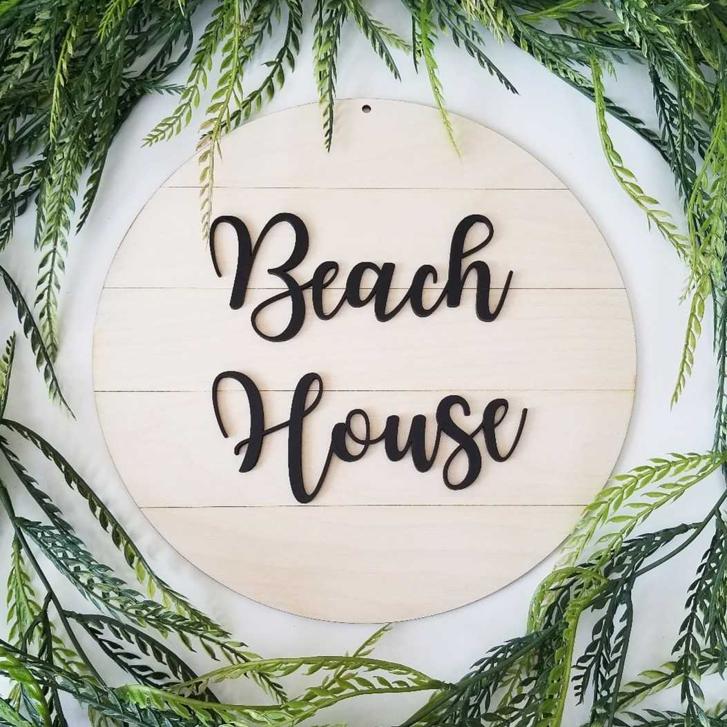 Shiplap Round - Beach House