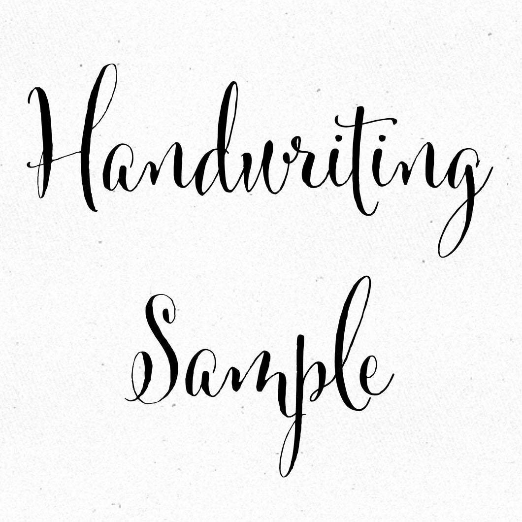 Handwriting Sample Conversion
