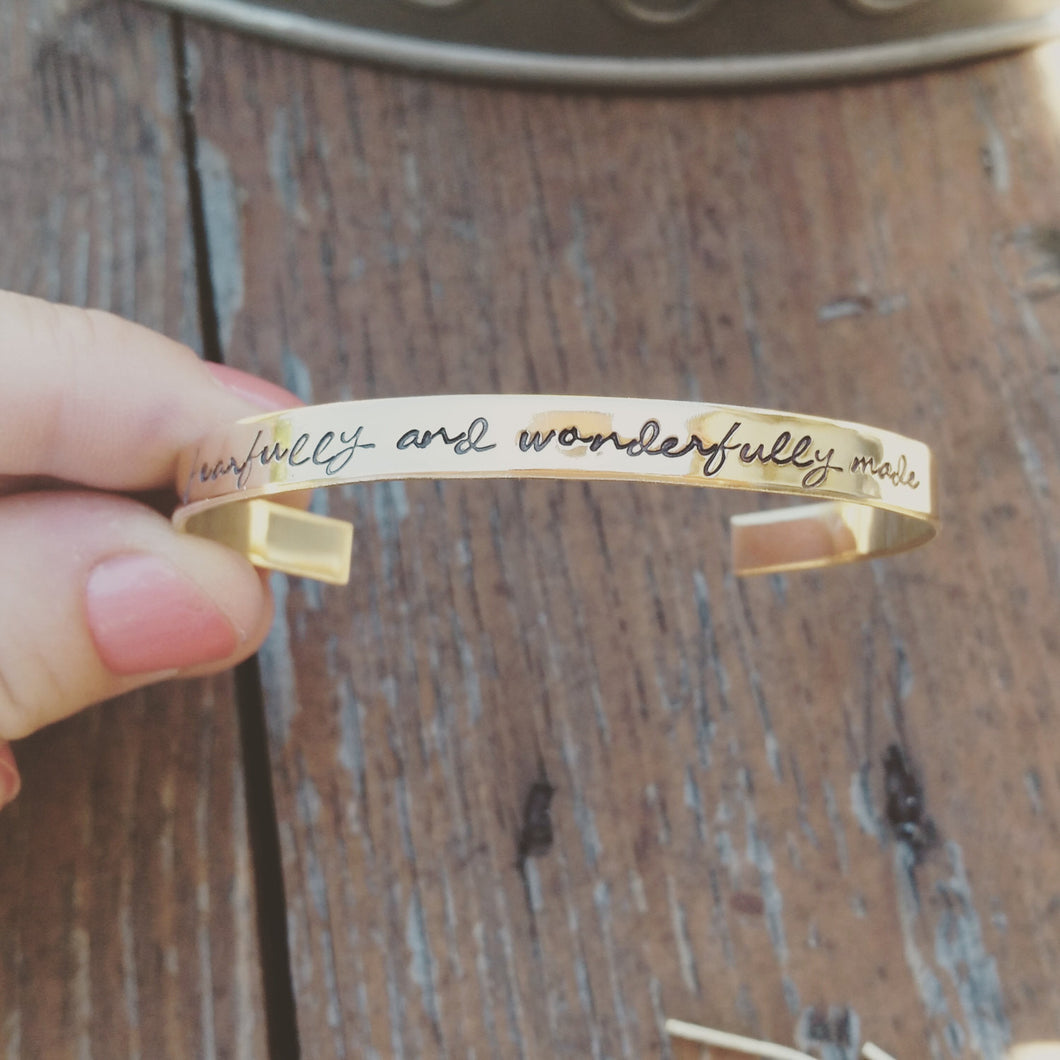 Fearfully and Wonderfully Made...Skinny Stacking Bracelet