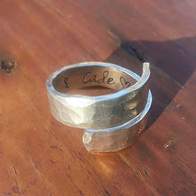 Textured Hand Stamped Wrap Ring