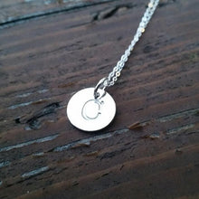 Classic Initial Hand Stamped Necklace