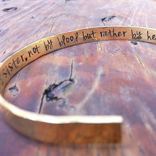 "Textured Hidden Message Hand Stamped 1/4"" Cuff Bracelet"