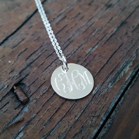 Classic Engraved Monogram Necklace