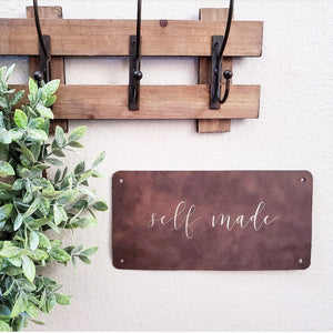 Personalized Faux Leather Sign